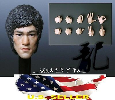 $52.49 • Buy 1/6 Bruce Lee Head Sculpt 5.0 With Hands For Hot Toys Enterbay Phicen M32 ❶USA❶