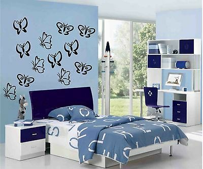 £5.50 • Buy BUTTERFLIES Wall Art Stickers, Decals, Apply To Any Flat Surface. Decorative