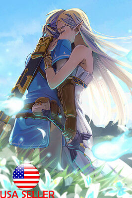 $11.99 • Buy Zelda Breath Wild Video Game 36  X 24  Large Wall Poster Print Fan Art Anime #02