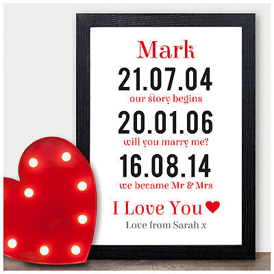 Our Love Story Personalised Romantic Gift Anniversary Husband Boyfriend For Him • 5.95£