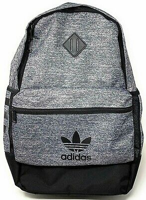 $38.85 • Buy Adidas TREFOIL Originals Youth Base 18  Backpack Gray Black LAPTOP SCHOOL BAG