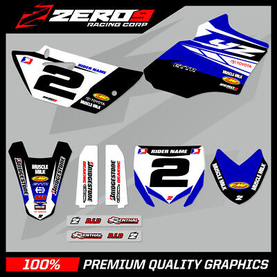 AU183.92 • Buy Custom MX Graphics Kit: YAMAHA YZ 85 2002 - 2020 - TEAM ISSUE