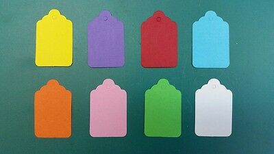 Coloured UnStrung String Kraft Tags Swing Price Tickets Jewellery Labels • 2.49£
