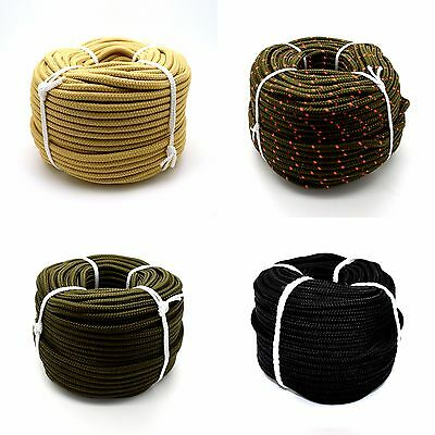 Polypropylene Rope Military Army Camouflage Survival Camping Colours Poly Cord • 85.78£