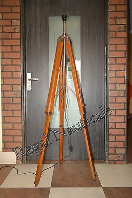 AU107.99 • Buy Wooden Tripod Lamp Bedside Nautical Stand Home Decor Floor Lamp