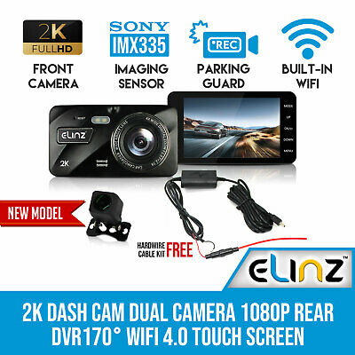 AU155 • Buy 4.0 Touch Screen 2K Dash Cam Dual Camera Reversing 1080P Car DVR WiFi 4.0 Touch