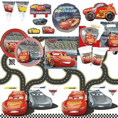 Disney Cars 3 McQueen Party Supplies Tableware, Decorations & Balloons • 2.99£
