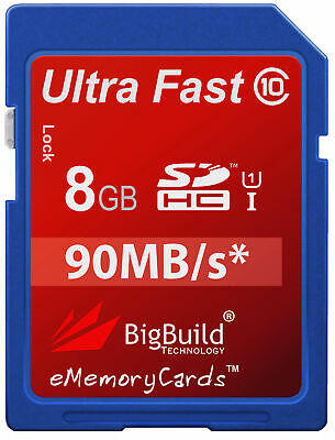 8GB Memory Card For Drift HD170 Camcorder | Class 10 90MB/s Speed SD SDHC New UK • 7.95£