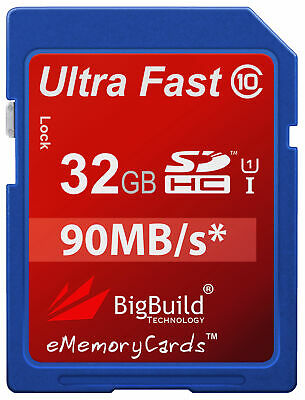 32GB Memory Card For Nikon Coolpix P900 Camera | Class 10 90MB/s SD SDHC New UK • 12.95£