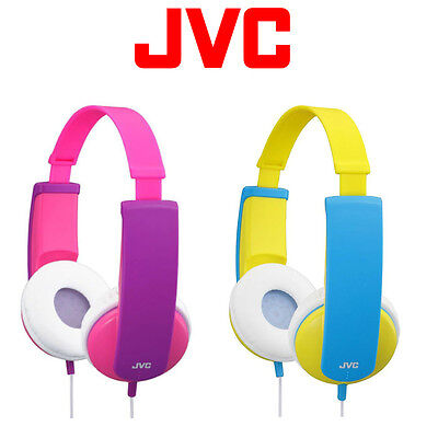 JVC Headphones On Ear, TinyPhones Kids Stereo,  3.5mm Jack, Pink Or Yellow • 15.47£