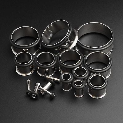 £9.99 • Buy Ear Stretching Kit Flesh Tunnel   Single Flare   Surgical Steel   1.6mm - 19mm