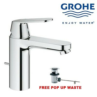 Grohe Eurosmart 233250 Mono Basin Bath Bathroom Sink Mixer Tap With Pop Up Waste • 73.99£