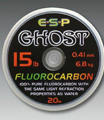 Esp Ghost Fluorocarbon Carp Fishing Line 20m Spool All Sizes • 9.95£