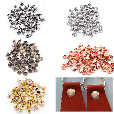 100pcs Two Piece Double Cap Tubular Rivets Leather Craft Cloth Repair 6mm - 15mm • 3.99£