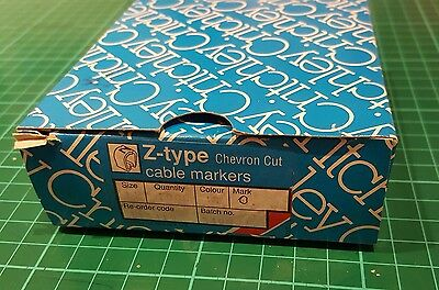 £5 • Buy Critchley Z-type Cable Markers Chevron Cut Size 15 Colour WE, Mark  7  Qty 1.000