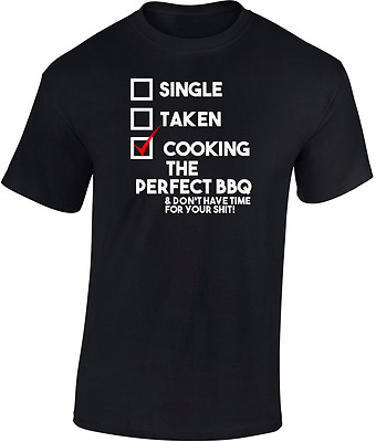 £11.95 • Buy Cooking The Perfect BBQ  T  Shirt   Funny Ideal Gift Barbecue