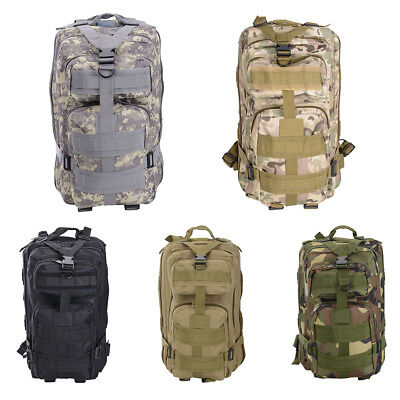 AU28.99 • Buy 28L Outdoor Hiking Camping Bag Army Military Tactical Rucksack Backpack Trekking