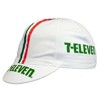 7 Eleven Retro Vintage Cycling Team Summer Under Helmet Made Italy Bike Hat Cap  • 7.99£