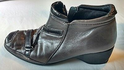 Pavers Womens Ladies Brown Leather Ankle Boots Size 5/38 Used Pre Owned Leather • 19.99£