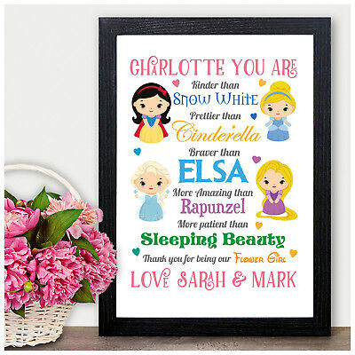 £13.95 • Buy Princess PERSONALISED Flower Girl Thank You Gifts Wedding Favours Bridesmaids