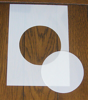 Circle Mask And Aperture Stencil 350 Micron PP For Arts Crafts & DIY • 4.80£