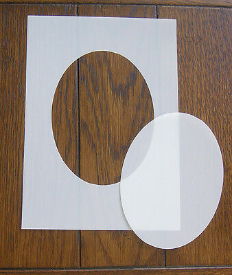 Oval Mask And Aperture Reusable Stencil 350 Micron PP For Arts Crafts & DIY • 4.80£
