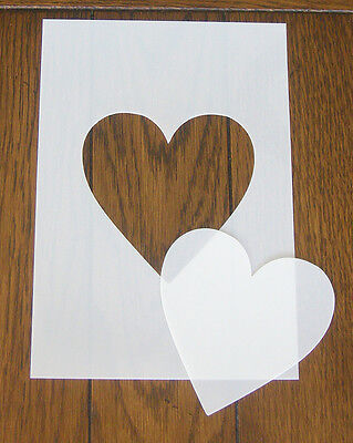 Heart Mask And Aperture Reusable Stencil 350 Micron PP For Arts Crafts & DIY • 4.80£