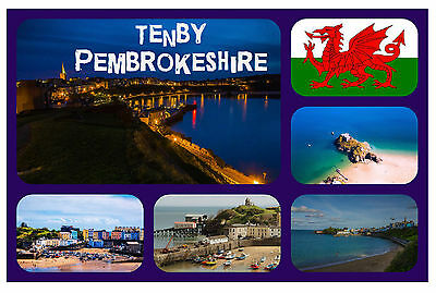 £2.15 • Buy Tenby, South Wales - Souvenir Novelty Fridge Magnet - Flags / Sights / Gifts