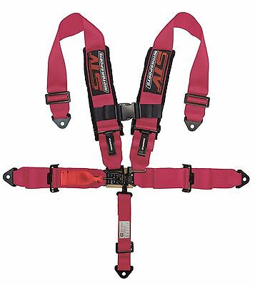$ CDN114.10 • Buy UNIVERSAL PINK 5 Point Latch And Link Racing Seat Belt HARNESS SFI