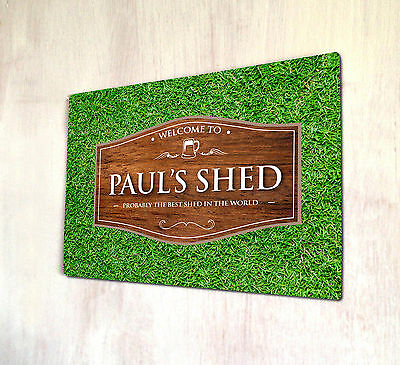 Personalised Shed Wood Effect Outdoor Allotment Sign A4 Metal Sign  • 15.99£