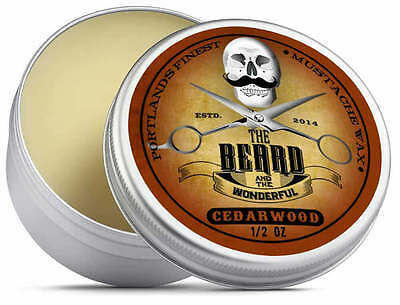 Cedarwood Moustache Wax (15ml) Premium Strong For Styling, Twists & Curls • 3.88£