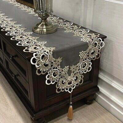 AU27.29 • Buy Dining Table Runner Kitchen Tea Table Cover Vintage Jacquard Fringed Home Decor