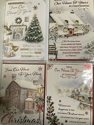£1.99 • Buy New Individual From Our House To Your House Yours Christmas Card Xmas