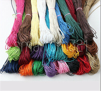 £1.29 • Buy Waxed Cord 1.5mm Or 1mm String Thread Jewellery Bracelet Necklace Craft
