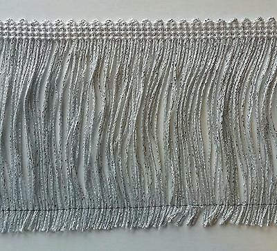 £14.42 • Buy 4  Metallic Chainette Fringe Col. White Silver - Put-up: 5 Continuous Yards