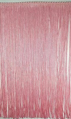 £13.34 • Buy 9  Stretch Chainette Fringe Trim - Color: Pink - 2 Continuous Yards