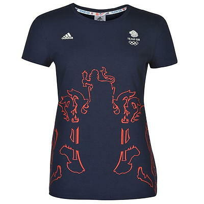 AU32.92 • Buy Official Adidas Olympics RIO 2016 Team GB Outline Ladies T-Shirt, Size: XS (4-6)