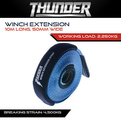 AU49.99 • Buy THUNDER 10m WINCH EXTENSION - RECOVERY GEAR, ACCESSORIES, 4X4, 4WD