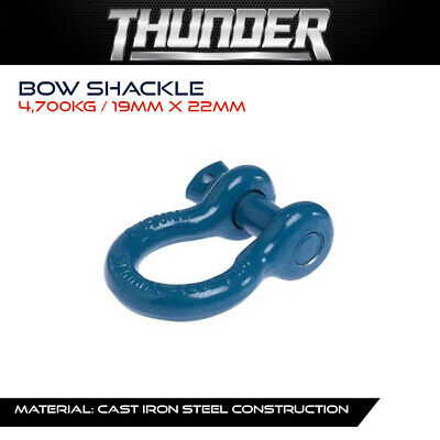 AU22.99 • Buy THUNDER 4,700kg BOW SHACKLE - RECOVERY GEAR, WINCH, ACCESSORIES, 4WD, 4X4