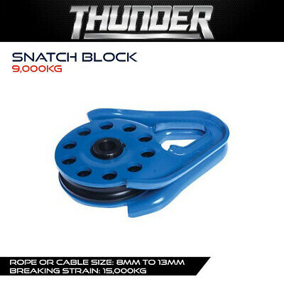 AU89.99 • Buy THUNDER 9,000kg SNATCH BLOCK - RECOVERY GEAR, WINCH ACCESSORIES, 4WD, 4X4