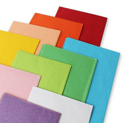 £2.99 • Buy Coloured Tissue Paper Sheets Acid Free 50x75cm Large Luxury Plain Gift Wrapping