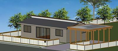 AU33460 • Buy 2 Bedroom DIY Granny Flat Kit - The Seascape 72 On Gal Chassis - FC Weatherboard