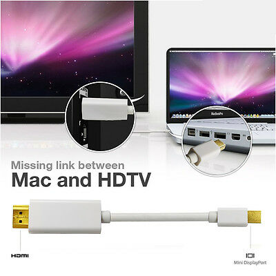 $8.80 • Buy Mini DisplayPort Thunderbolt To HDMI TV Adapter Cable F MacBook Pro Air, Surface