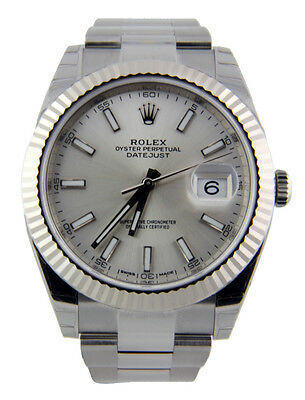 $ CDN14134.03 • Buy Rolex Datejust II 126334 Oyster Steel & 18k White Gold Bezel 41mm Silver Index