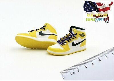 $17.84 • Buy 1/6 Male Yellow Sneakers Shoes Basketball Laker Air For 12  Figure Phicen ❶USA❶