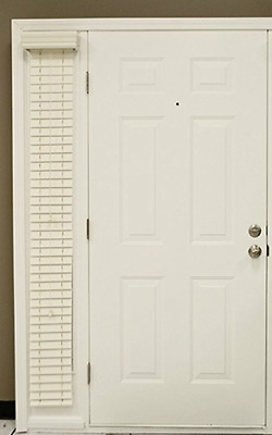$ CDN65.90 • Buy  2-Inch Faux Wood Sidelight Side Of Door Plantation Blinds, Cream Color 9  X 78