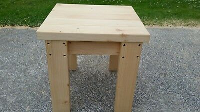 Quality Handmade Kitchen Dining Wooden Stool Seat Bench Sturdy And Solid  • 35£