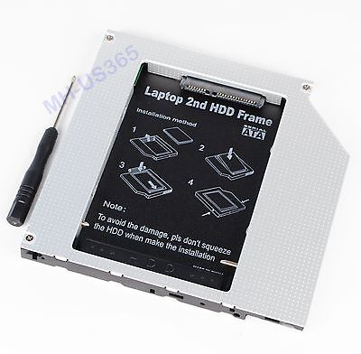 $14.90 • Buy 2nd PATA IDE HD SSD Hard Drive Optical Bay Caddy For Macbook Pro Early 2008 2007