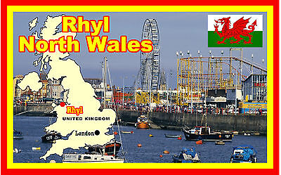 £2.15 • Buy Rhyl, North Wales - Souvenir Novelty Fridge Magnet - Flags / Sights / Gifts