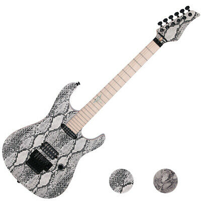 $990 • Buy Reedoox Snake Skin 2014 FR Floyd Rose Push Pull Unique Graphic Electric Guitar